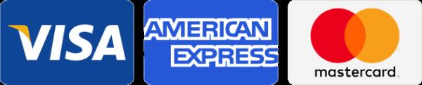 Payment cards Visa American Express Mastercard